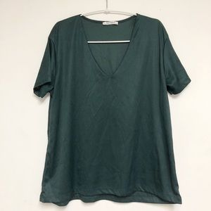 Zara Trafaluc Half Sleeve Knit Top